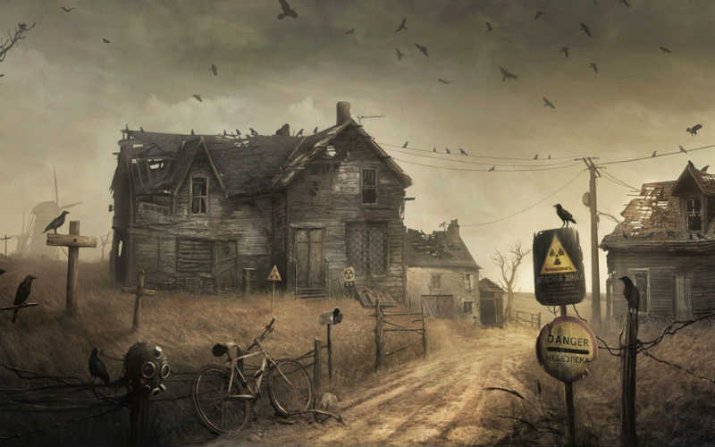 House in Apocalyptic Wasteland