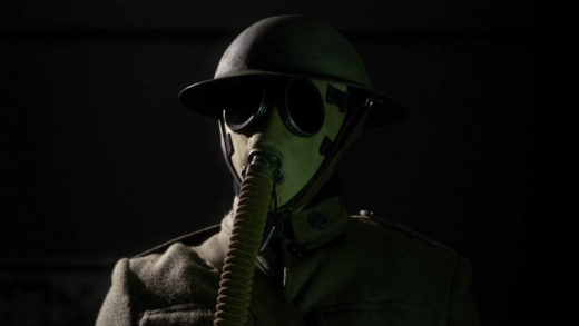 Creepy Character in Gas Mask
