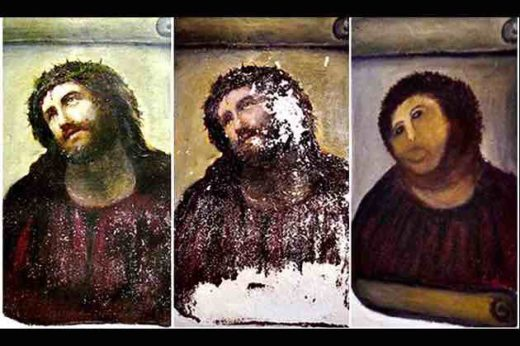 Botched restoration of Painting of Jesus