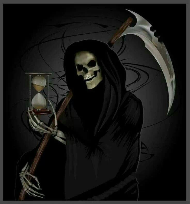 Picture of Grim Reaper with Hourglass