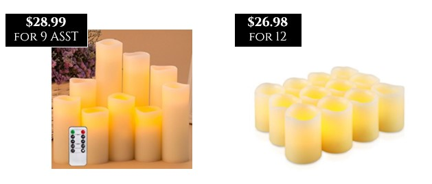 Cost Comps on Wax LED Candles